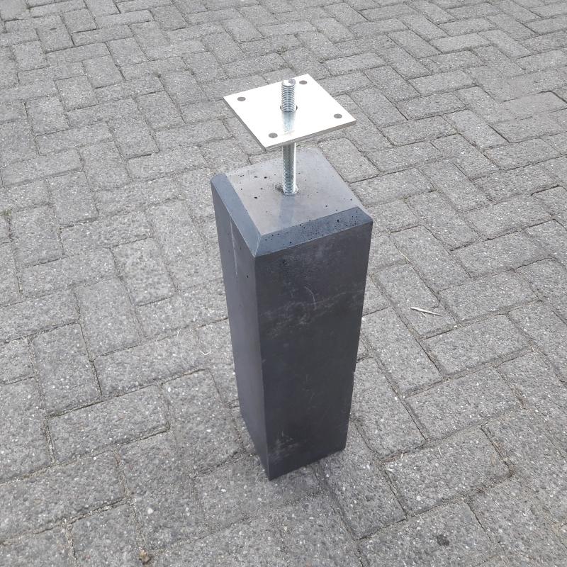 Hedendaags Betonpoer Antraciet 15x15 cm. YJ-98